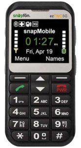 Snapfon ezTWO Senior Cell Phone with Tracker