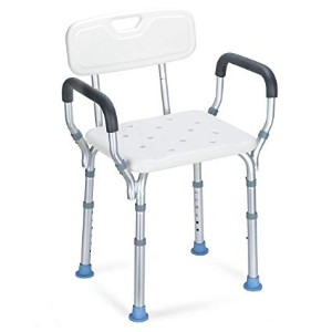 OasisSpace Heavy Duty Shower Chair with Back