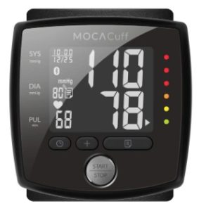 MOCACuff Automatic Blood Pressure Monitor Wrist Cuff w/Bluetooth App